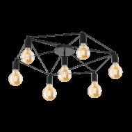Stropní svítidlo, 7 x 60W, černé STAITI 97904