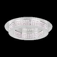 Křišťálové LED svítidlo PRINCIPE 39404 o průměru 70 cm, barva: stříbrná