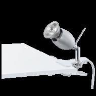 Lampička s klipem šedá BANNY
