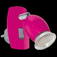 Nástěnná lampička LED růžová BRIVI 1