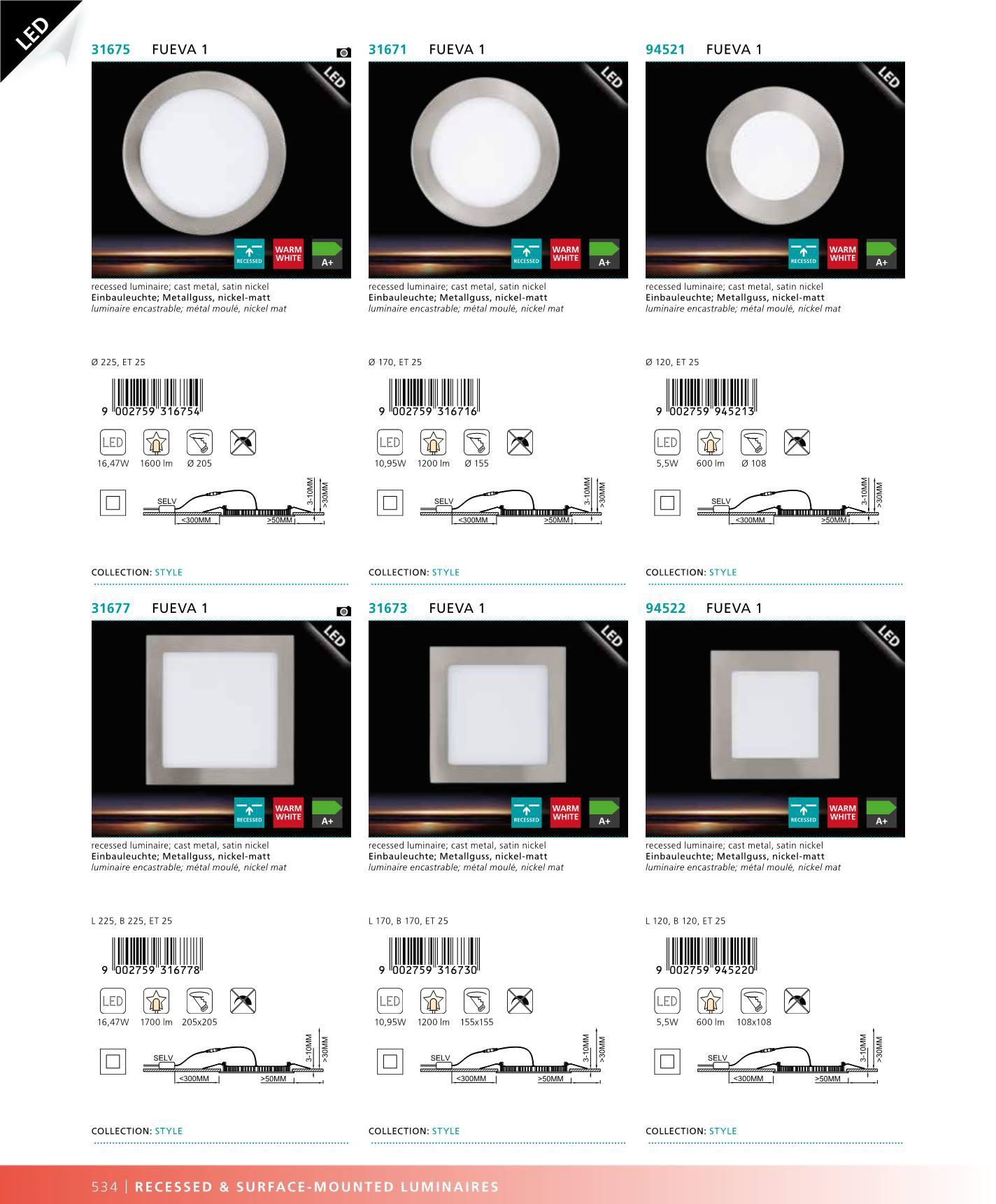 led sv teln panel vestavn fueva 1 94521 eglo 94521. Black Bedroom Furniture Sets. Home Design Ideas