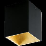 LED stropní osvětlení černé a zlatavé POLASSO 94497