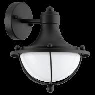 Venkovní nástěnná lampa, černá MONASTERIO 95976