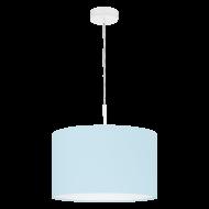 Svítidlo na lanku s textilním stínítkem, pastelově modré PASTERI-P 97385