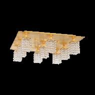 Přisazený křišťálový lustr PYTON GOLD 97722