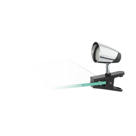 LED světlo s klipem - provedení černá/chrom MONCALVIO 96843