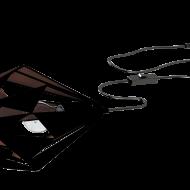 Stolní lampa, černá/měděná CARLTON 1 49993