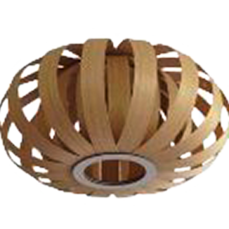 Stropní svítidlo s dřevěným stínítkem/přírodní odstín ARENELLA 96653