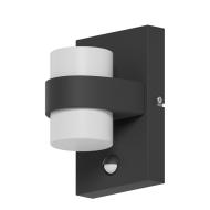 Venkovní nástěnné LED světlo s pohybovým senzorem, antracitové ATOLLARI 96276