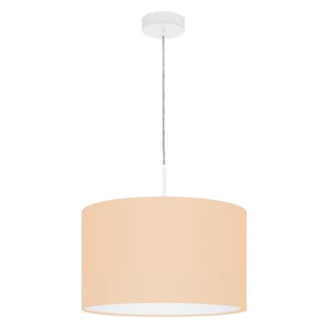 Svítidlo na lanku s textilním stínítkem, pastelově meruňkové PASTERI-P 97561