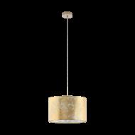 Svítidlo na lanku se zlatým textilním stínítkem VISERBELLA 97643