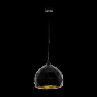 Svítidlo na lanku, černo-zlaté ROCCAFORTE 97845