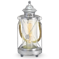Lucerna na žárovku stříbrná BRADFORD 49284