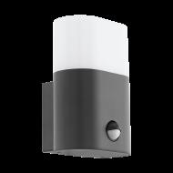Venkovní nástěnné LED svítidlo s pohybovým čidlem - antracitové FAVRIA 97316