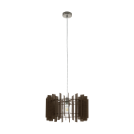 Lustr na lanku, hnědé dřevo TREGLIO 97519