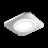 Stropní LED osvětlení, nikl/chrom PUYO-S 97664 s délkou stran 51 cm