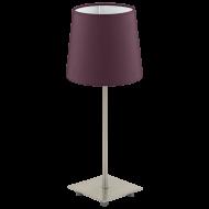 Lampička fialová látkové stínítko LAURITZ