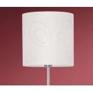 Velká stojací lampa s látkovým stínidlem INDO