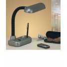 Moderní stolní lampička stříbrná FABIO
