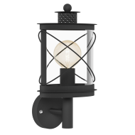 Černá nástěnná lampa / lucerna HILBURN 94842