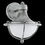 Venkovní nástěnná lampa, stříbrná patina MONASTERIO 95978