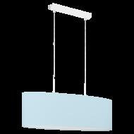 Oválné textilní osvětlení na lanku, pastelově modré PASTERI-P 97387