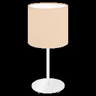 Stolní lampička s textilním stínítkem, pastelově meruňková PASTERI-P 97565