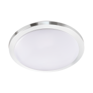 Bílo-stříbrné stropní LED svítidlo do koupelny, průměr 40 cm COMPETA 1-ST 97755