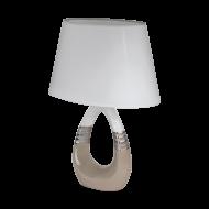 Stolní lampa s keramickou nohou a bílým textilním stínítkem BELLARIVA 1 97775