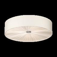 Stropní svítidlo FUNGINO 39441, kombinace matný nikl-bílá