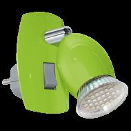 Nástěnná lampička LED zelená BRIVI 1