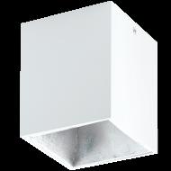 LED stropní osvětlení bílé a stříbrné POLASSO 94499