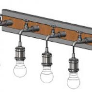 Industriální nástěnné svítidlo/4žárovky GOLDCLIFF 49104