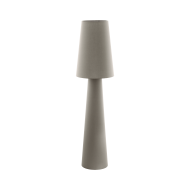 Textilní stojací lampa, hnědo-šedá CARPARA 97141