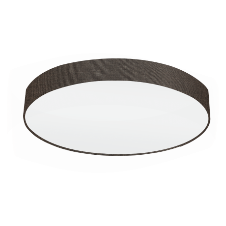 Osvětlení na strop s textilním stínítkem a průměrem 76 cm, hnědá/bílá PASTERI 97618
