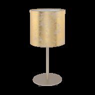 Stolní lampa se zlatým textilním stínítkem VISERBELLA 97646