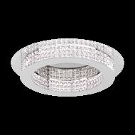 Stropní LED svítidlo PRINCIPE 39402 s průměrem 70 cm, odstín: chrom