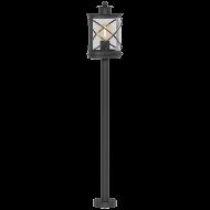 Černá lampa / lucerna na sloupku HILBURN 94844