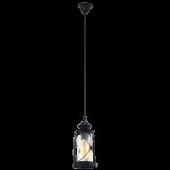 Závěsná lucerna na žárovku BRADFORD 49213