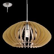 Závěsné stropní osvětlení dřevěná konstrukce COSSANO 2 95257