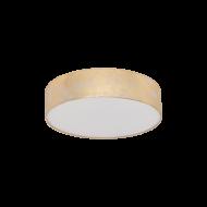Stropní svítidlo se zlatým textilním stínítkem VISERBELLA 97641