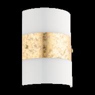 Nástěnné svítidlo, bílá/ zlatá FIUMANA 97657