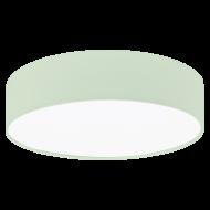 Stropní osvětlení s textilním stínítkem, pastelově zelené PASTERI-P 97376