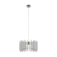 Lustr na lanku, bílé dřevo TREGLIO 97517