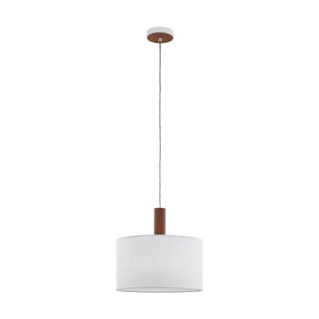 Závěsné osvětlení s bílým textilním stínítkem CONCESSA 3 97676