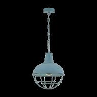 Závěsné svítidlo CANNINGTON 1 33027, barva: modro+šedá