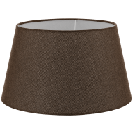 Textilní stínítko hnědé k pokojové lampě 1+1 VINTAGE 49656