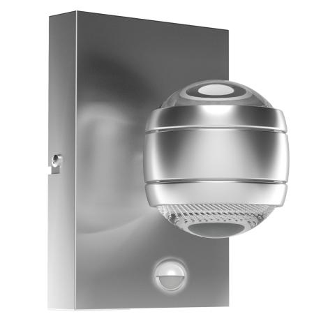 Designové venkovní LED svítidlo, stříbrné SESIMBA 1 96019