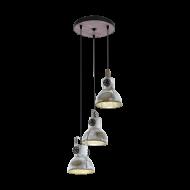 Kaskádovitě řešené závěsné osvětlení, 3 stínítka BARNSTAPLE 49647