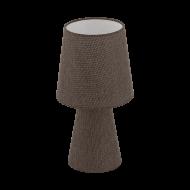 Textilní stolní lampa, hnědá CARPARA 97123